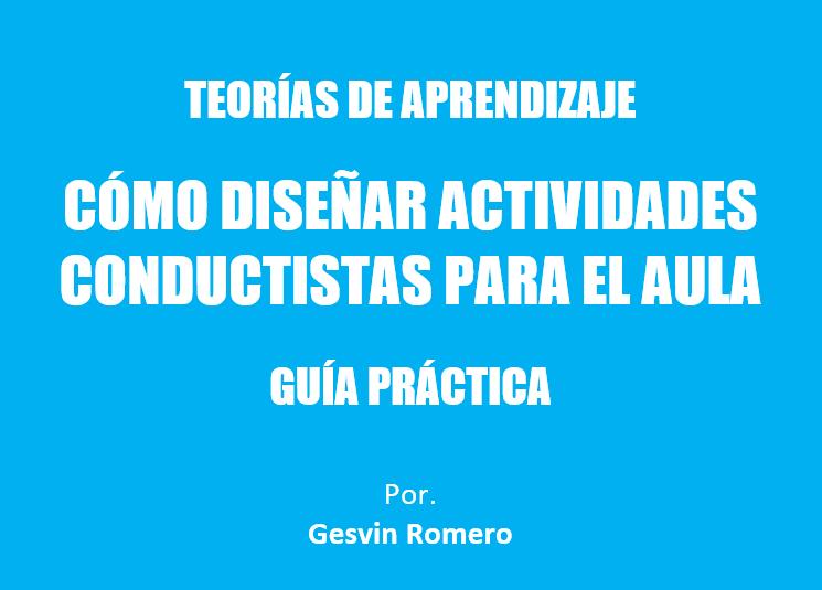 cómo diseñar actividades conductistas