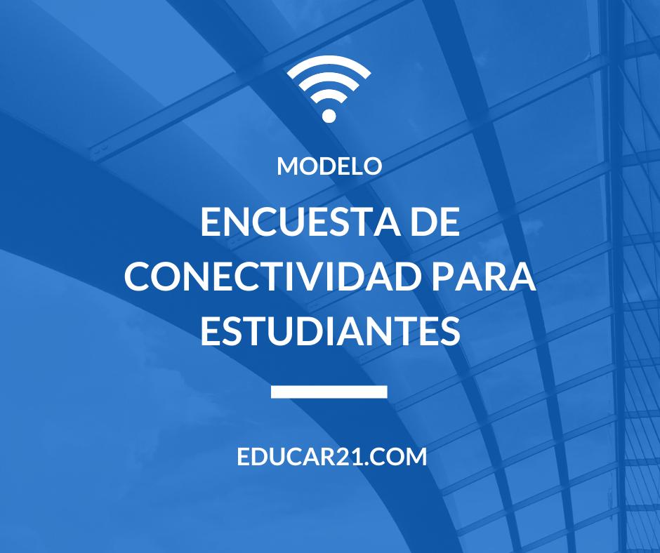 encuesta de conectividad para estudiantes